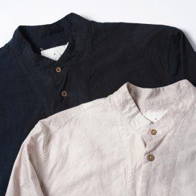 ARAKI YUU Band Collar Pull Over Shirt