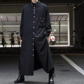 YOHJI YAMAMOTO Stand Collar Long Shirt
