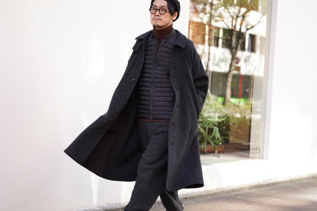 Porter Classic  Wool&Gauze Swing Coat