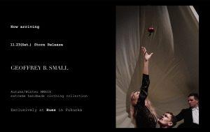 "Geoffrey B.Small  2019-20Autumn&Winter ""the onion"" 11.23(Sat.) store release"