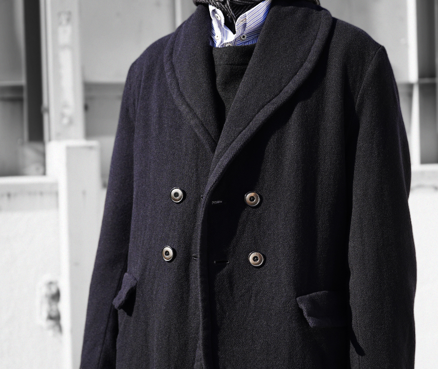 Geoffrey B.Small  shawl Collar double-breasted coat