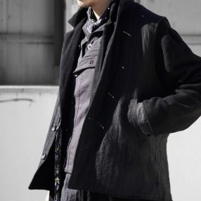 Geoffrey B.Small  reversible high neck waistcoat