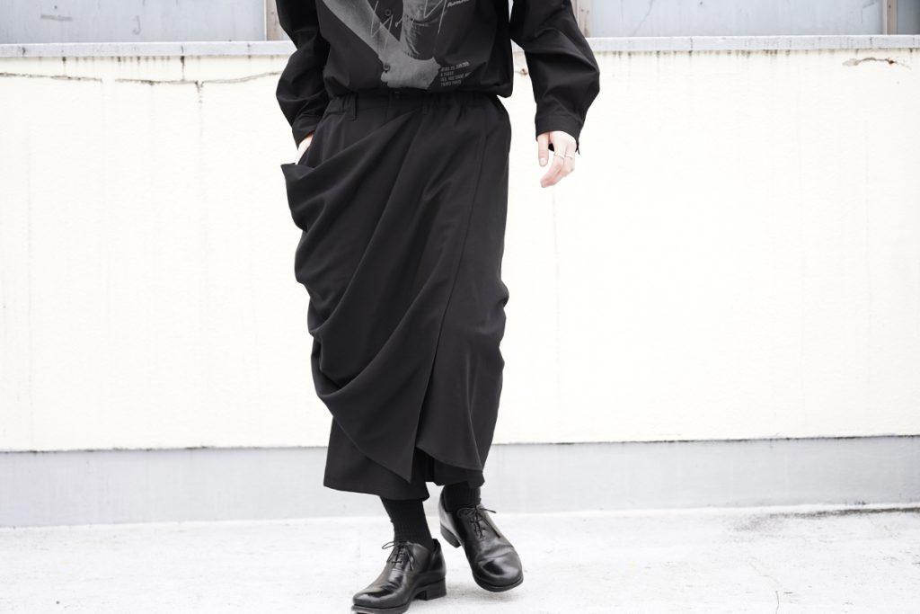 B YOHJI YAMAMOTO Drape Skirt Pants