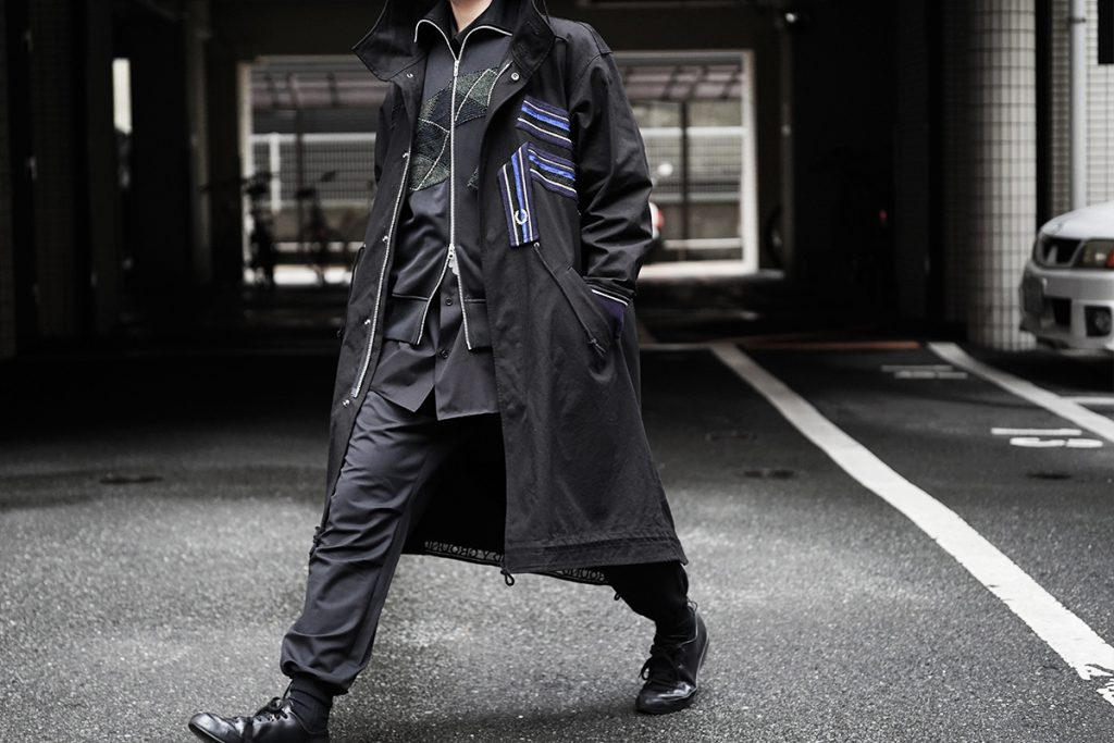 Ground Y × FRED PERRY  Fish Tail Parka