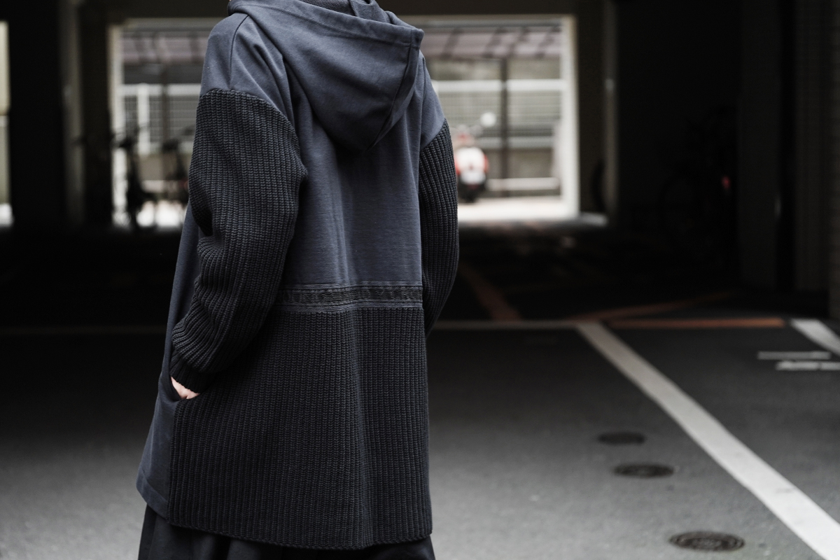Ground Y × FRED PERRY  Knit Fleece Hoodie