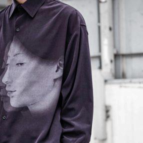 YOHJI YAMAMOTO 20SS UCHIDA Face Print Long Shirt