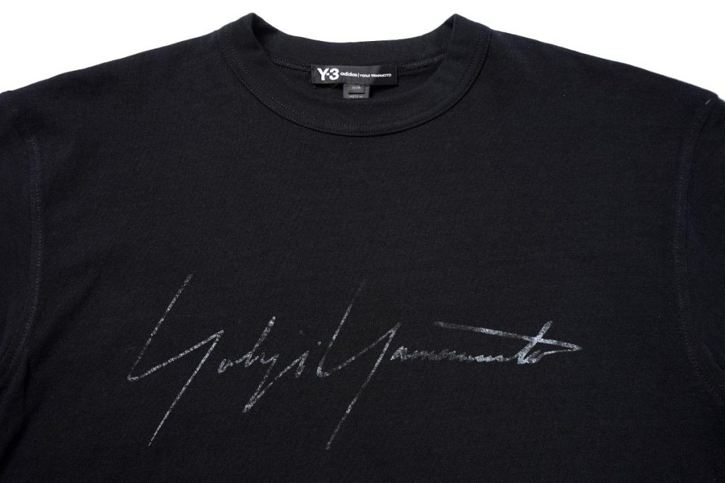 Y-3 20SS  M DISTRESSED SIGNATURE SS TEE