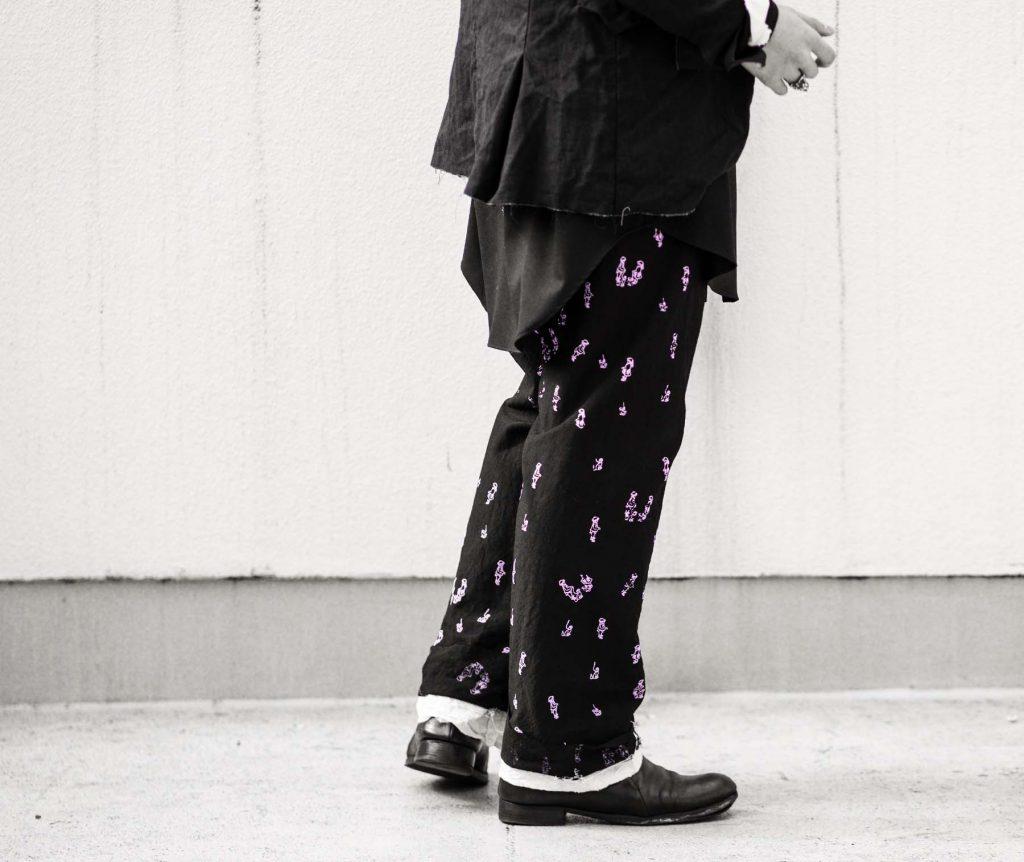 ELENA DAWSON  DRAWSTRING PANT with PINK print