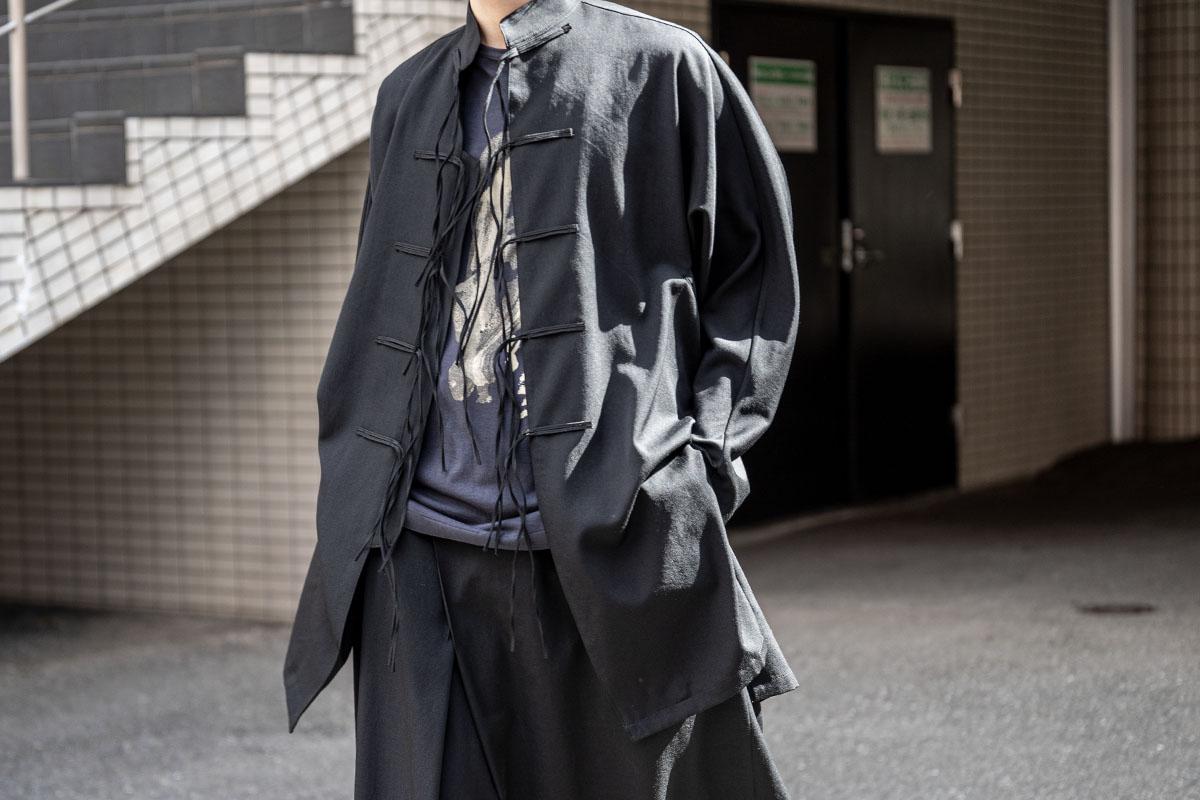 B YOHJI YAMAMOTO Dolman Sleeve China Shirt