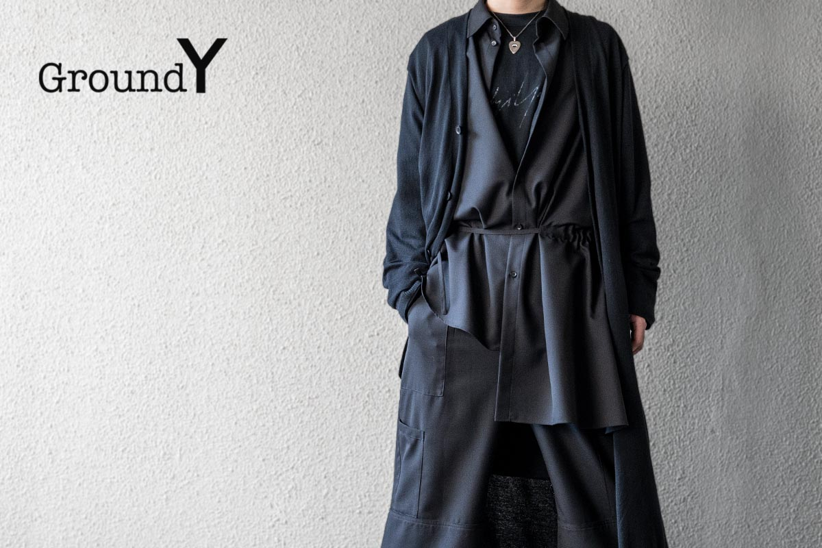 Ground Y 20SS Gather Drape Shirt