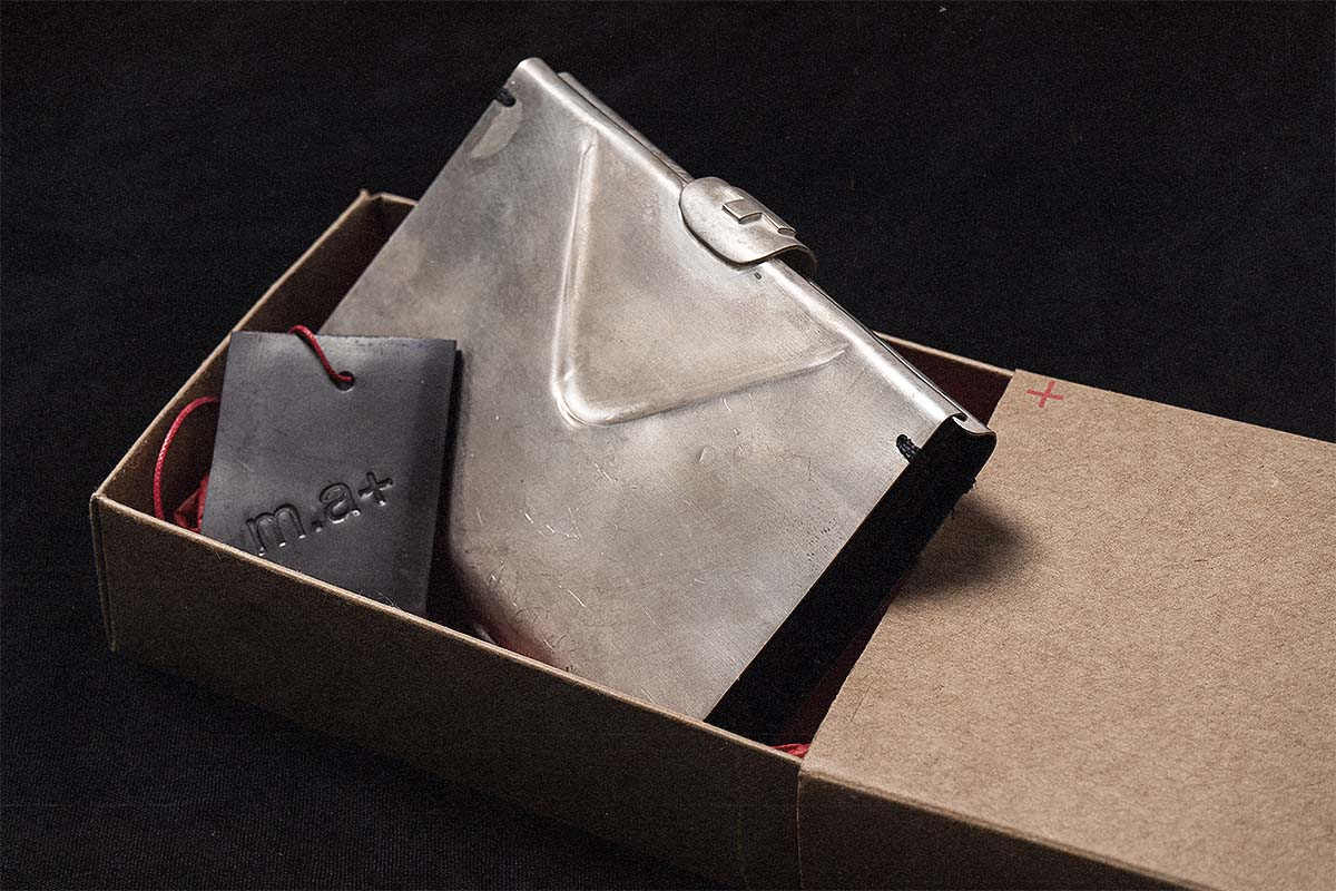 m.a+ silver small wallet