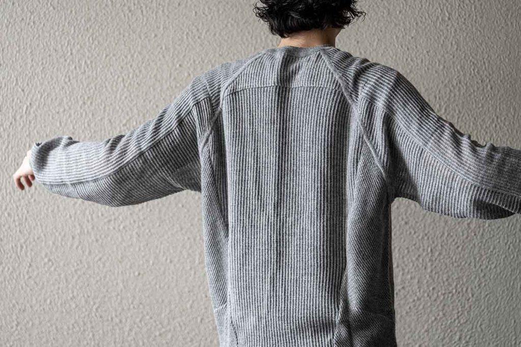 ACRONYM Cashllama Silk Mesh Crewneck Sweatshirt(C1-AM)