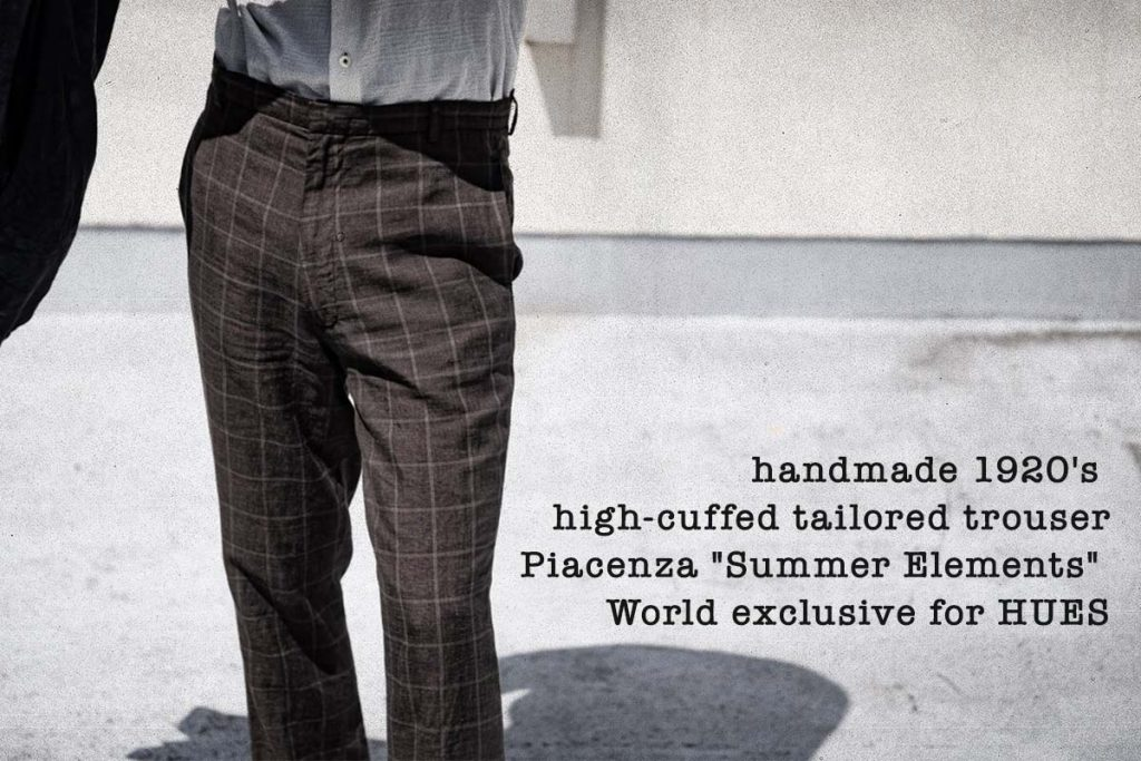 Geoffrey B.Small  handmade 1920's high-cuffed tailored trouser