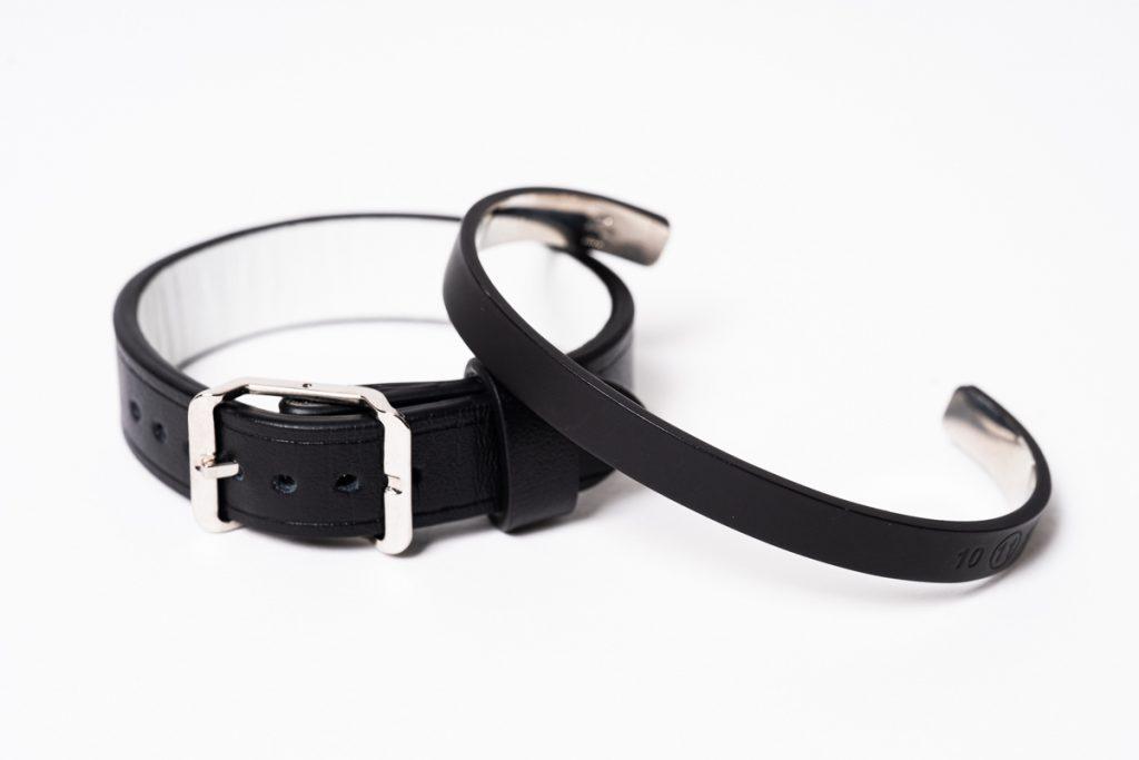 Maison Margiela  Paint Bangle &  Leather Bracelet