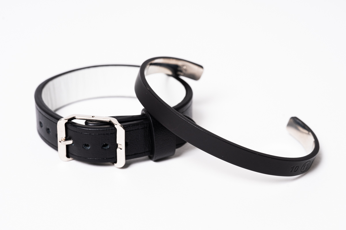 Maison Margiela  Paint Bangle &  Leather Bracelet