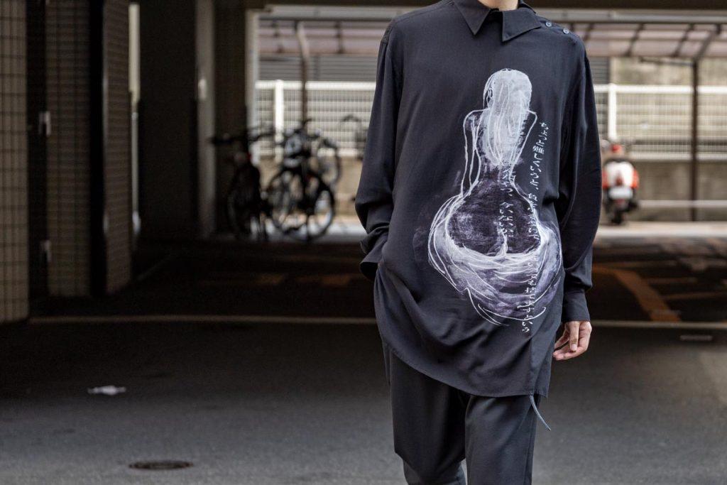 YOHJI YAMAMOTO 20-21AW Message Print Pull Over Shirt