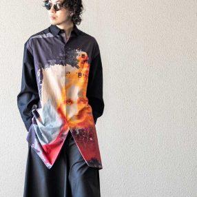 YOHJI YAMAMOTO 20-21AW UCHIDA Print Big Shirt A