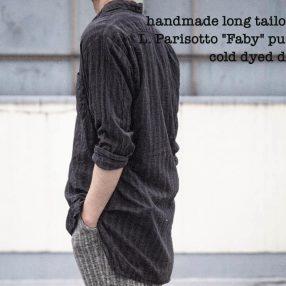Geoffrey B.Small  handmade long tailored shirt dark