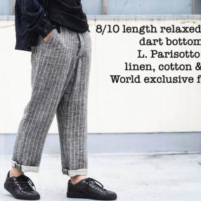 Geoffrey B.Small  8/10 length relaxed pleated dart bottom trouser