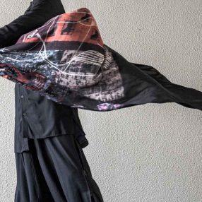 YOHJI YAMAMOTO Stand Collar Drape Shirt