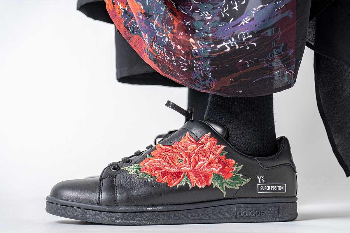 Y's x adidas Diagonal Stan Smith Floral