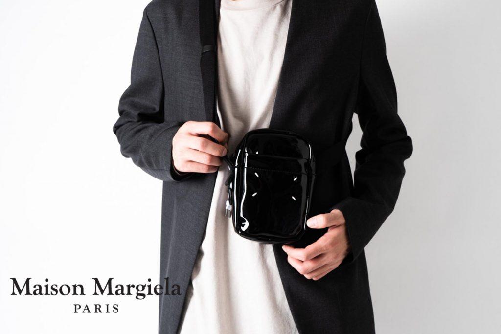 メゾンマルジェラのエナメルクロスボディバッグとミニカメラバッグ