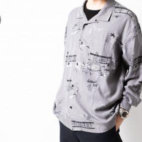 ポータークラシックのアロハロングシャツ
