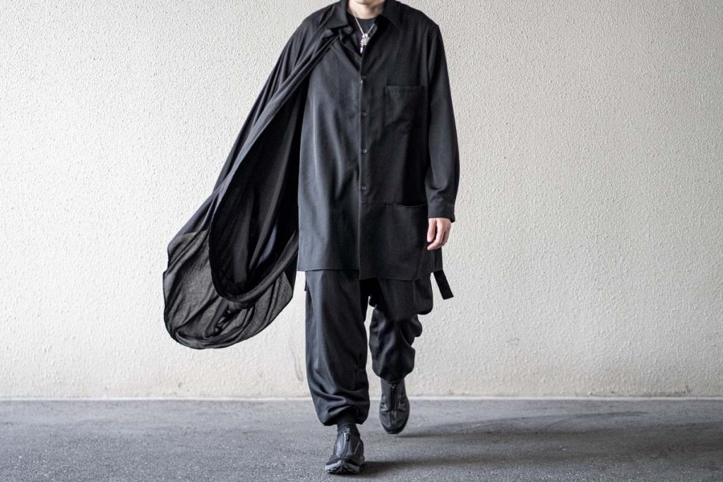 YOHJI YAMAMOTO Asymmetry Drape Shirt A