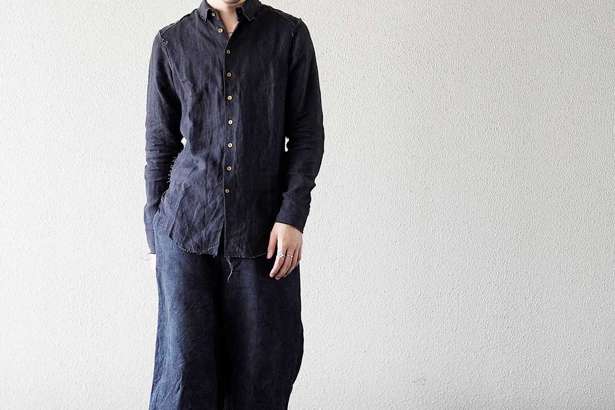 ARAKI YUU Raw Cut Narrow Shirt