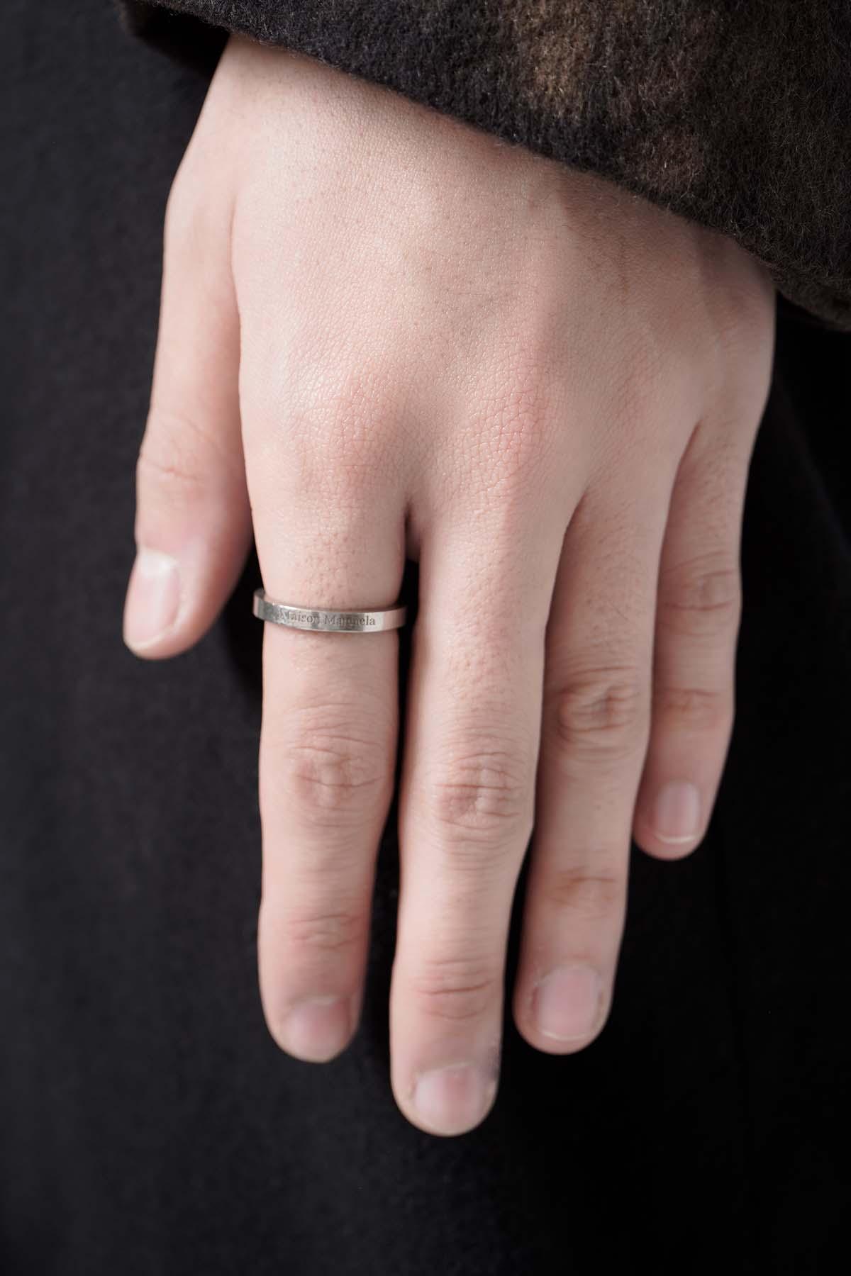Skinny Logo Ring Silver [2021SS]