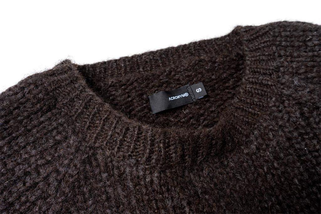 ACRONYM Hand-Knit Air Jet Crewneck Sweater (C1-AJ)