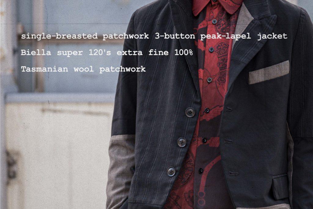 ジェフリー B.スモール パッチワークジャケット
