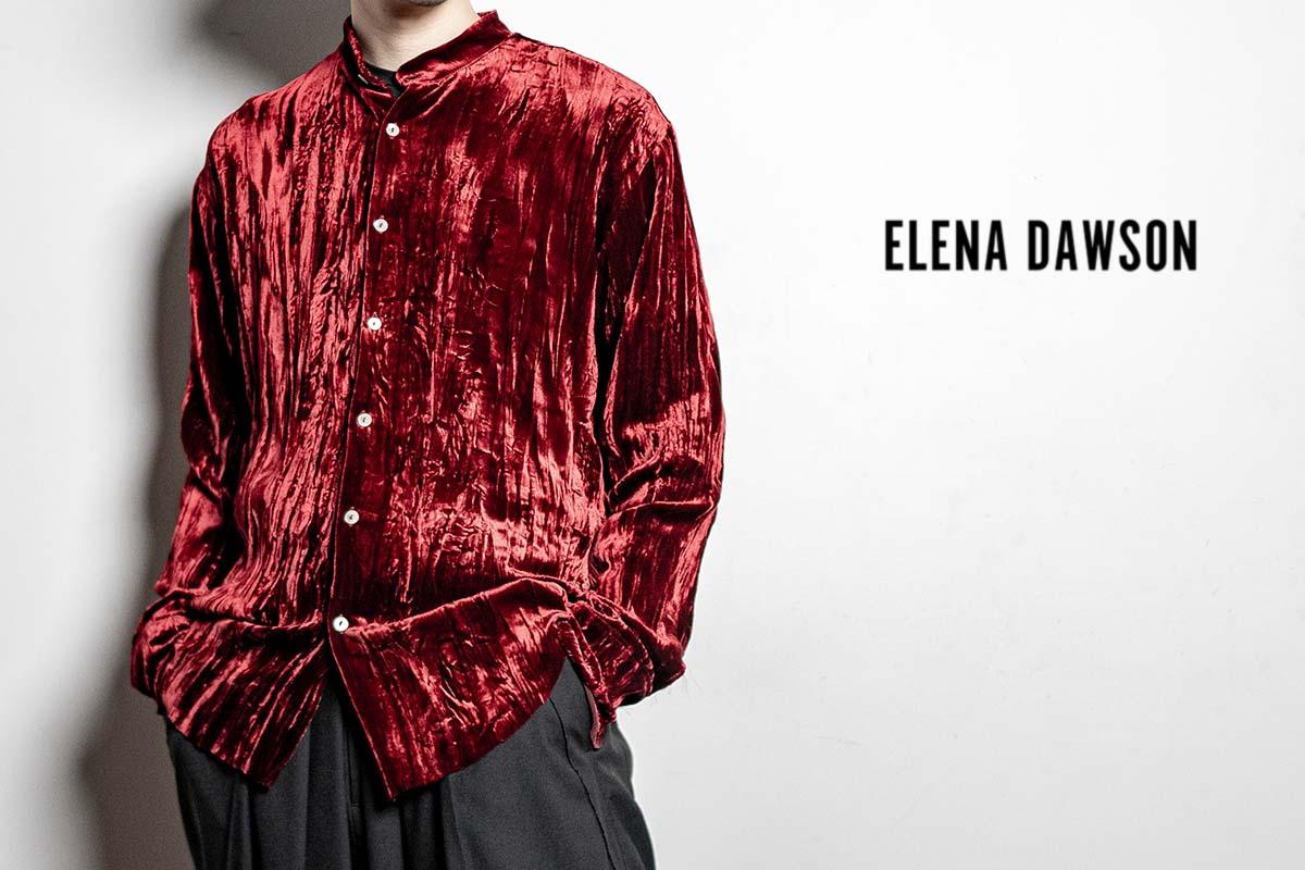 エレナ・ドーソン GARDEN SHIRT RED & BLACK