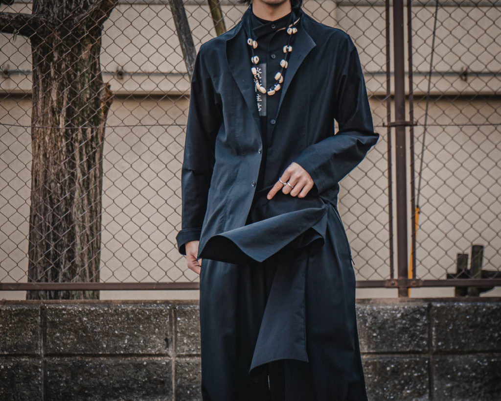 ヨウジヤマモト 21SS Left Hem Layered Patch Shirt