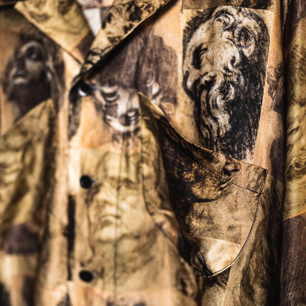 ジェフリー B.スモール  パジャマカラーシルクシャツ