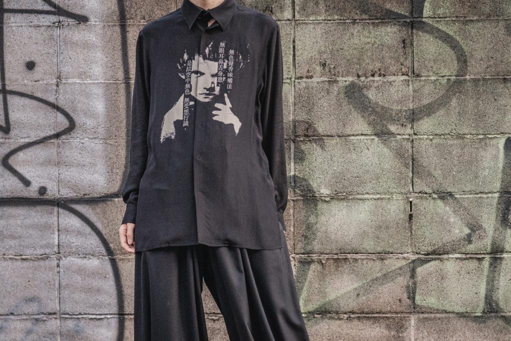 ヨウジヤマモト 2021-22AW シルクプリントシャツ