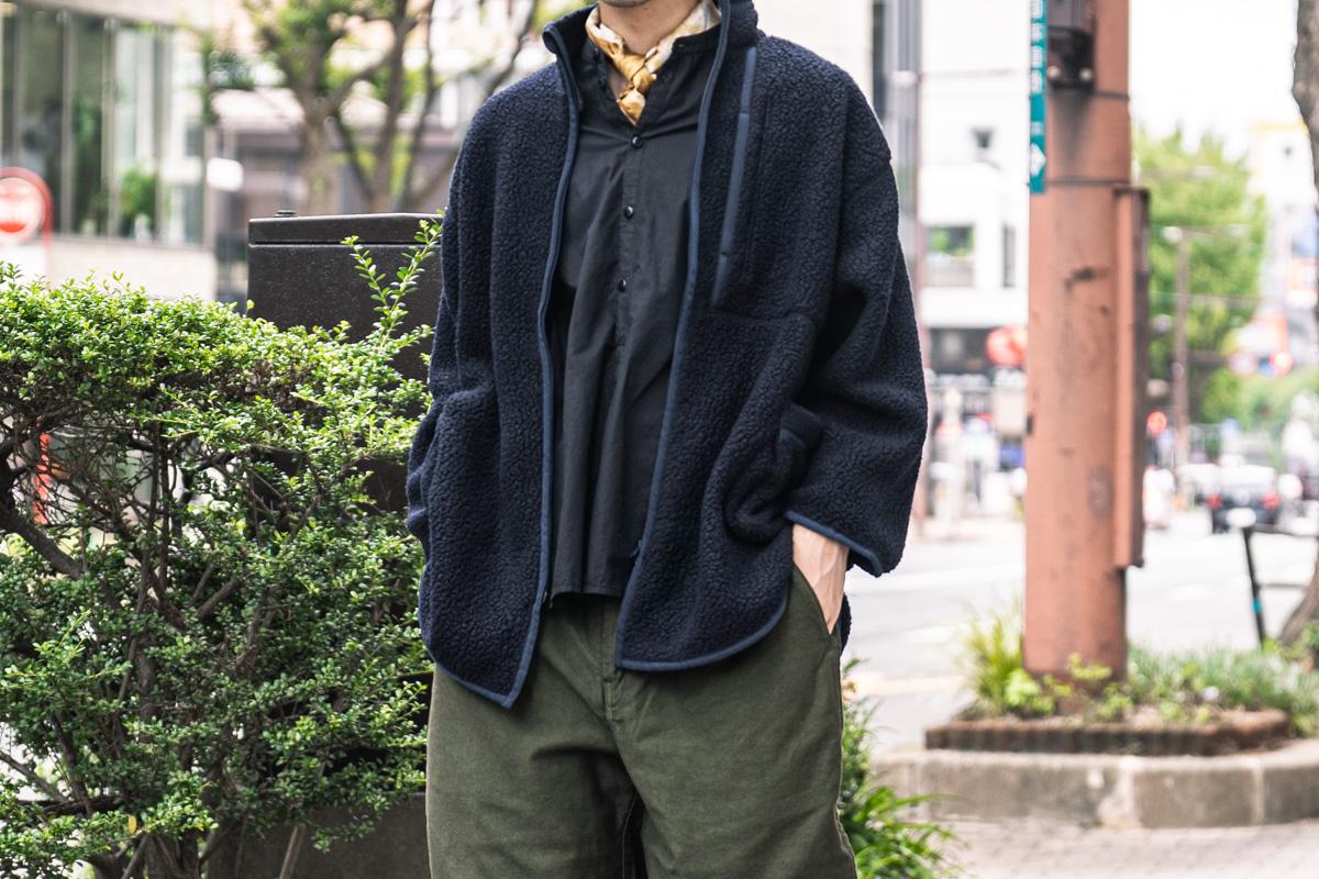 ポータークラシックのフリース シャツジャケット