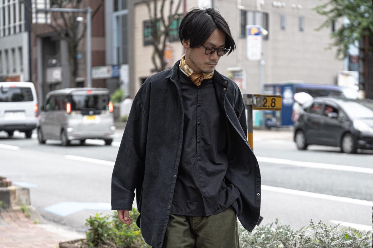 ポータークラシックのコットンモールスキン シャツジャケット