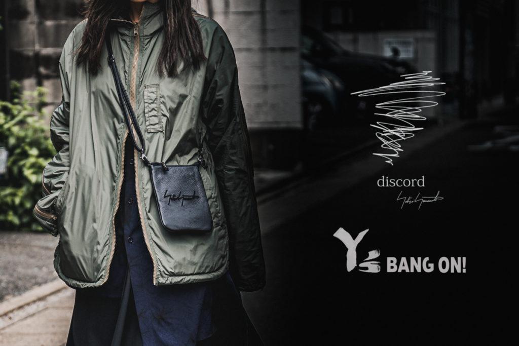 """新作入荷  """"Y's BANG ON! & discrod YOHJI YAMAMOTO """""""