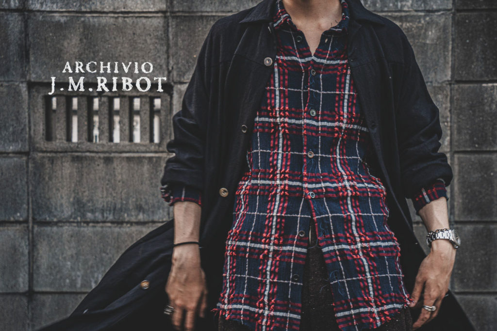 ARCHIVIO J.M.Ribot 21-22AW チェックシャツ